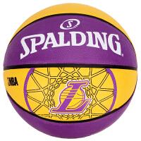 斯伯丁 SPALDING 83-156Y 队徽系列 洛杉矶湖人队橡胶篮球 室外款 7号标准球 橡胶材质