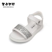 女童凉鞋公主鞋软底中大童小学生儿童沙滩鞋
