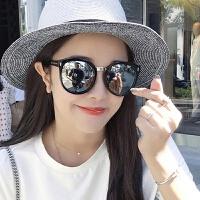 网红彩膜个性太阳镜男女款大框显瘦司机墨镜