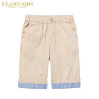 【1件3折价:119.4元】Elandkids衣恋童装儿童夏季新款男童学院风休闲短裤