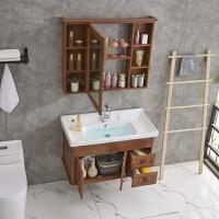 炭纤维浴室柜组合卫生间洗脸盆洗漱台洗手盆面盆镜箱柜挂墙式卫浴