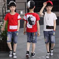 男童夏装新款套装 夏季童装儿童大童潮衣小男孩