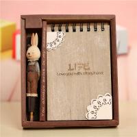 创意日记本毛绒龙猫笔记本礼盒套装 文具记事本学生礼品送笔