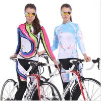 春夏季户外运动骑行服 女款长袖骑行服套装