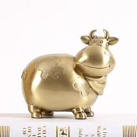 牛装饰品摆件存钱罐装硬币的储钱罐创意储物盒生日礼物