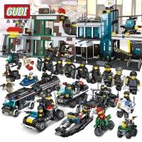 儿童玩具乐高积木城市系列男孩子益智军事拼装警察局汽车模型礼物