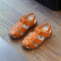 花样童依 夏季新款儿童凉鞋2017韩版男童包头软底凉鞋女童小童中童宝宝鞋潮XSCZ(ZPF)-889包头