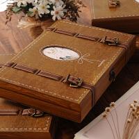 复古木盒同学录中学生活页留言册唯美个性盒装毕业礼品纪念册