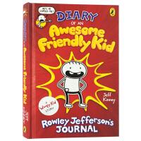 小屁孩日记作者新作 英文原版 Diary of an Awesome Friendly Kid 英语漫画绘本 杰夫金尼