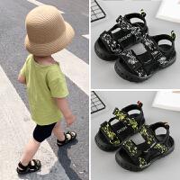 宝宝鞋子男1-3岁夏季沙滩鞋女小童露趾婴儿凉鞋软底防滑学步鞋一2