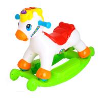 快乐摇马宝宝声光摇椅 滑行 两用婴儿木马摇马储物带音乐