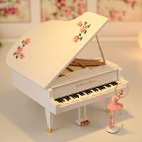 跳舞芭蕾舞女孩钢琴音乐盒八音盒摆件创意生日61儿童节礼物送女生 芭蕾女孩+