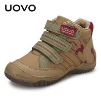 【1件1.5折�r:89元】UOVO�和�鞋子男童鞋2020新款春秋季中小童�\�有�高�托蓍e鞋�n版潮新惠特尼