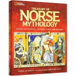 华研原版 Treasury of Norse Mythology 英文原版 美国国家地理北欧神话故事 全彩插画精装版