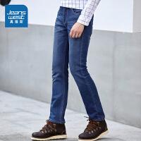 [超级大牌日每满299-150]真维斯牛仔裤男 冬装男装弹力修身长裤韩版学生裤子潮