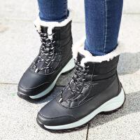№【2019新款】冬天小朋友穿的女童雪地靴中筒靴棉靴防水学生大童短靴东北棉鞋子