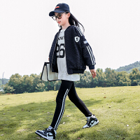 女大童外套秋季春秋款时髦百搭儿童运动长袖外衣