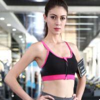 高强度专业可调节无钢圈防震拉链运动内衣背心跑步健身女瑜伽文胸