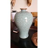 景德镇陶瓷花瓶仿古官窑瓷器梅瓶中式复古家居装饰工艺品摆件