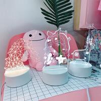创意LED装饰台灯小夜灯少女心软妹卧室宿舍插电生日礼物房间摆件