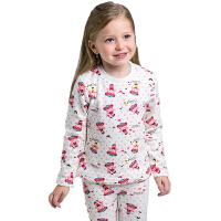 【套装】童装女童保暖内衣套装 秋冬装 儿童加绒打底衫