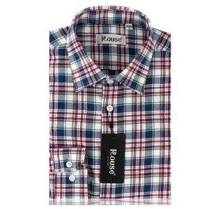 洛兹男正品秋装新款商务休闲全棉长袖格子衬衫男装正品长袖衬衣LM14415-21