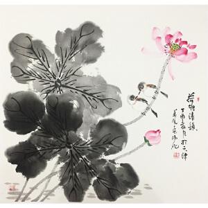 霍春阳《荷塘清韵》著名画家