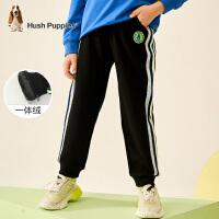 【抢购价:79元】暇步士童装男童中大童冬季新款一体绒长裤运动宽松