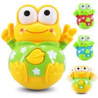 婴幼儿益智玩具 青蛙不倒翁 包电音乐灯光不倒翁 宝宝玩具