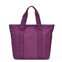 女包大包单肩包轻便大容量简约帆布手提防水妈咪包旅行包尼龙布包