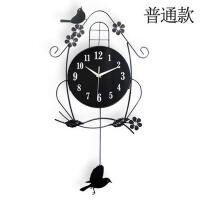 现代简约装饰餐厅挂表个性时钟时尚挂钟客厅创意静音石英钟表 普通款