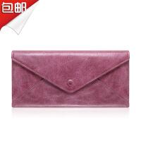 SOUF【支持礼品卡】女士钱包女长款 拉链大钞夹手拿包女 百搭真皮夹多卡位大容量