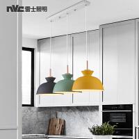 雷士照明 led客厅餐厅吊灯北欧创意鱼线吧台三头铁艺马卡龙吊灯具