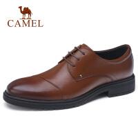 camel骆驼男鞋 秋季新款男士商务正装皮鞋牛皮商务系带办公皮鞋