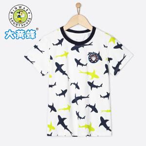 大黄蜂童装 男童T恤 短袖 2018新款夏季休闲韩版圆领儿童宽松卡通