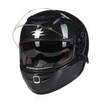 摩托车头盔男双镜片碳纤维赛车机车全盔夏四季全覆式跑盔