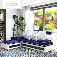ZUCZUG沙发布艺沙发床简约现代大小户型转角可拆洗客厅家具沙发床 多人