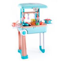 ?过家家厨房玩具 女孩做饭煮饭厨具餐具儿童过家家玩具套装 过家家厨房玩具旅行箱下单即送贴纸一张 图片色