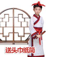 六一儿童演出服装女汉服儿童古装国学幼儿园小学男女童书童三字经