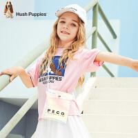 【2件5折:86元】暇步士童装女童T恤短袖夏装新款儿童圆领衫可爱中大童套头衫