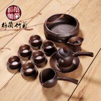 整套功夫茶具柴烧套装红茶铁观音陶瓷制茶壶简易过滤泡茶器家用