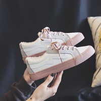 帆布鞋子女2018新款学生韩版原宿ulzzang加绒小白鞋秋季百搭板鞋