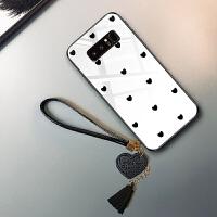 三星note8手机壳3星保护sm-n9500套闹特8玻璃nota8日韩nite8黑白色n9508带手