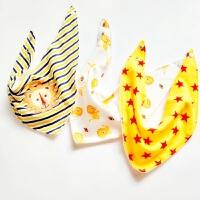 婴儿三角巾口水巾纯棉全棉围巾幼儿园新生儿童吸水宝宝小围嘴饭兜