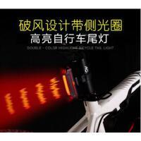 安全灯防水单车夜间后尾灯电动车自行车尾灯USB充电led防水夜骑行警示灯