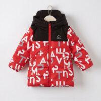 【1件4折到手价:239.6】美特斯邦威旗下moomoo童装男童冲锋衣羽绒服新款冬装鸭绒韩版中大儿童外套