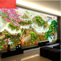 十字绣线绣新款万里长城客厅中国风景满绣古典家用清新自然风大气