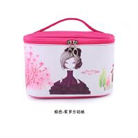 手提化妆包韩国可爱卡通清新小方化妆品收纳包袋折叠防水