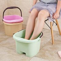 加厚足浴盆脚底按摩泡脚桶泡脚盆 家用塑料洗脚盆大号洗脚足浴桶