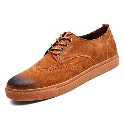 特大号男鞋子45秋季潮鞋加大码46男士休闲鞋47透气英伦皮鞋